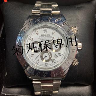ノベルティー シルバーホワイトバージョン 腕時計