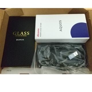アクオス(AQUOS)のAQUOS sense3 ブラック 64 GB SIMフリー ケース 他付属品有(スマートフォン本体)