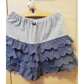 ハッシュアッシュ(HusHush)のフリル スカート パンツ HasHash 140(スカート)
