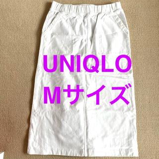 ユニクロ(UNIQLO)のMサイズ ユニクロ デニムジャージースカート 膝丈(ひざ丈スカート)