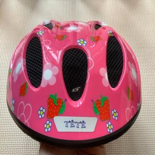 子ども用ヘルメット 1歳から4歳 ピンク柄(ヘルメット/シールド)