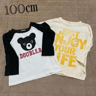 ダブルビー(DOUBLE.B)のロンT   2枚 100㎝(Tシャツ/カットソー)