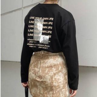 EVRIS - EVRIS ロングTシャツ ブラック