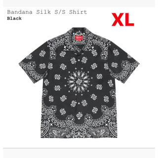 Supreme - Supreme Bandana Silk S/S Shirt Black XL