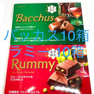 チョコレート(chocolate)のロッテ 冬季限定 ラミー10箱 バッカス10箱 計20箱(菓子/デザート)