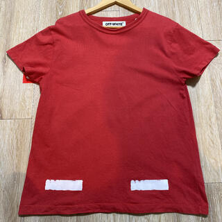 OFF-WHITE - offwhite tシャツ red
