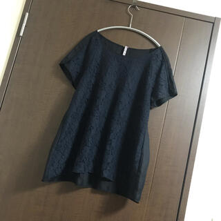 イネド(INED)のイネド☆紺レース(シャツ/ブラウス(半袖/袖なし))