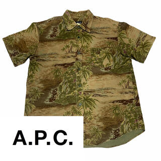アーペーセー(A.P.C)の美品【A.P.C】アーペーセー アロハシャツ 総柄シャツ コットン(シャツ)