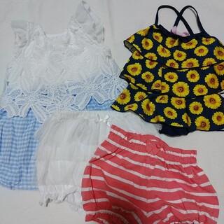 夏の女の子服、水着セット