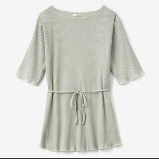 シマムラ(しまむら)のしまむら てら コラボ terawear  emu TERA 紐つき配色メロウT(Tシャツ(半袖/袖なし))