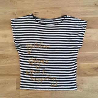 ツモリチサト(TSUMORI CHISATO)のツモリチサト トップス 半袖Tシャツ カットソー ボーダー 黒×白(Tシャツ(半袖/袖なし))