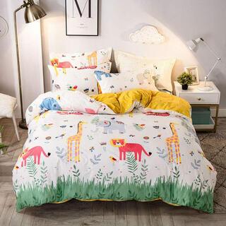 動物の森 掛け布団カバー セット 寝具カバーセット子供