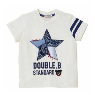 ダブルビー(DOUBLE.B)の★ダブルB★ペイズリーがアクセントになった半袖Tシャツ130★日本製★ミキハウス(Tシャツ/カットソー)