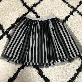 ジーユー(GU)のキッズ服ストライプチュースカート110(スカート)