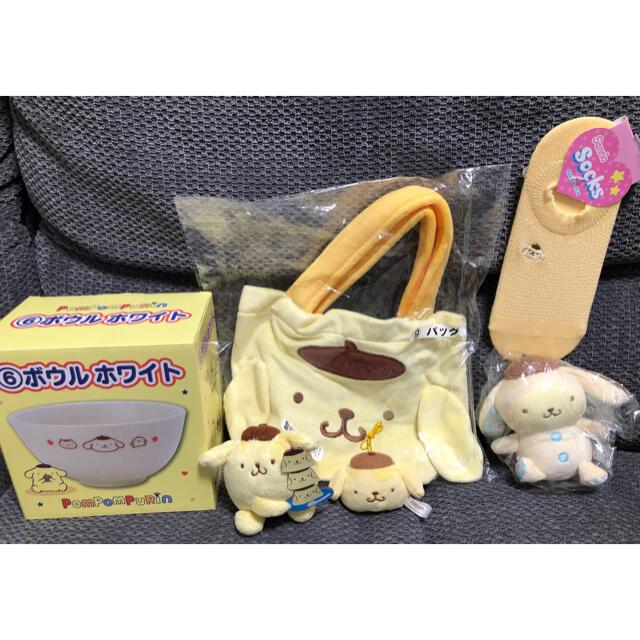 サンリオ(サンリオ)のサンリオ ポムポムプリン 6点セットお得なまとめ売り エンタメ/ホビーのおもちゃ/ぬいぐるみ(キャラクターグッズ)の商品写真