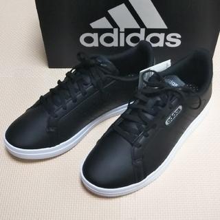 adidas - 新品 adidas スニーカー コートポイント CL X ブラック 24.5cm