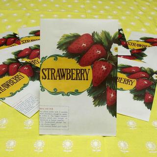 k3さま専用 チャルカ苺(ロゴ)フルーツサークル袋、昭和フルーツ平袋(カード/レター/ラッピング)