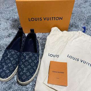 LOUIS VUITTON - 値下げ!ルイヴィトン スリッポン インディゴ 靴 24.5cm