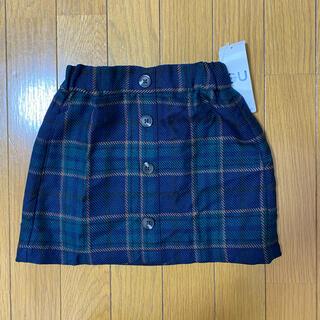 ジーユー(GU)の【新品・タグ付】GU ジーユー キッズ チェック スカート(スカート)