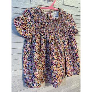 ザラキッズ(ZARA KIDS)のZARA baby  花柄トップス size104(Tシャツ/カットソー)