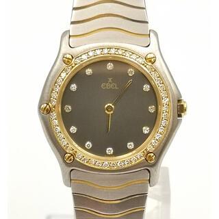 エベル(EBEL)のEBEL 181930-X  クラシックウェーブ10Pダイヤ ベゼルダイヤ 時計(腕時計)