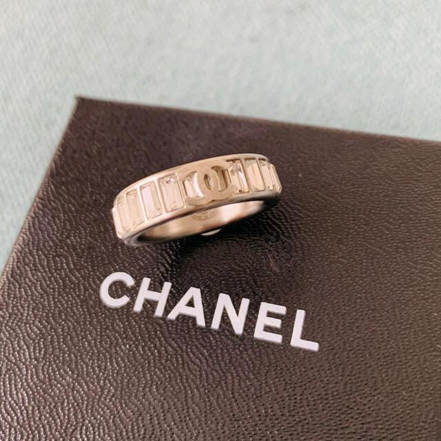 CHANEL(シャネル)のりお様専用♡CHANEL ロゴ&ラインストーンリング silver レディースのアクセサリー(リング(指輪))の商品写真