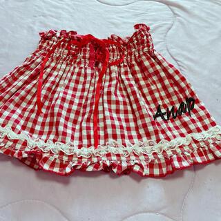 アナップ(ANAP)の美品 アナップ スカート チェック 110  ギンガムチェックスカート アース(スカート)