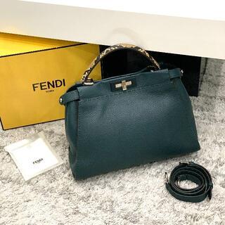 FENDI - FENDI 極美品♡ フェンディ セレリア ピーカブー パイソン グリーン