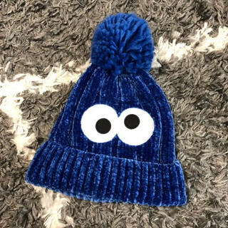 USJ - 美品 クッキーモンスター ニット帽 USJ ポンポン ユニバ 帽子