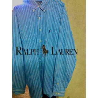 POLO RALPH LAUREN - 《ラルフローレン》カラーストライプシャツ 刺繍ロゴ XL メンズ古着