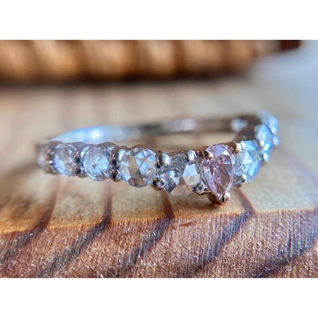 ご専用です🌸天然ピンクダイヤモンドローズカットダイヤモンドエタニティリング レディースのアクセサリー(リング(指輪))の商品写真