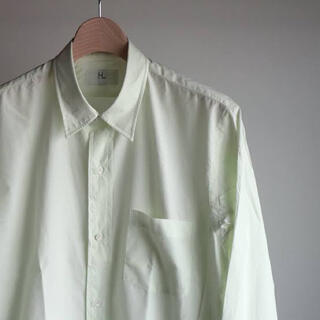 COMOLI - HERILL Suvin Reguler Coller Shirts グリーン