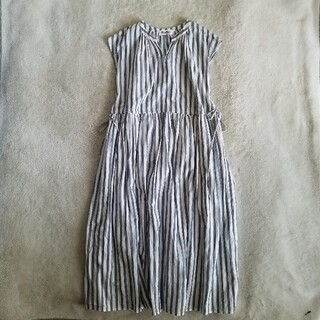 [Market] side ribbon stripe one-piece