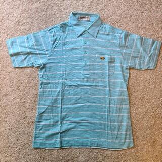 ゴールデンベア(Golden Bear)の【美品】ジャックニクラウス 半袖ポロシャツ 水色(ポロシャツ)
