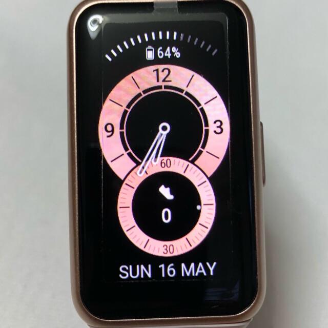 HUAWEI(ファーウェイ)のHUAWEI Band6 未使用未開封 交換用バンド スクリーンプロテクター付き メンズの時計(腕時計(デジタル))の商品写真