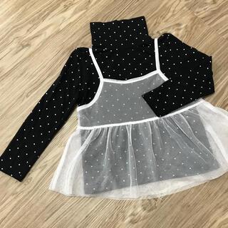 ザラキッズ(ZARA KIDS)のZARA ザラ ドット×チュールキャミトップス 100〜110cm(Tシャツ/カットソー)