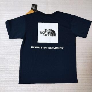 THE NORTH FACE - ノースフェイス スクエアロゴTシャツ S ネイビー NT32038 速乾静電ケア