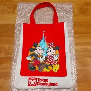 ディズニー(Disney)の25周年 ショッピングバッグデザイン ディズニー 復刻トート レッド(トートバッグ)