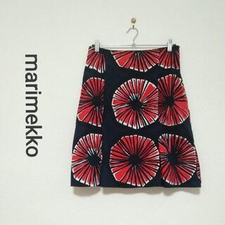 マリメッコ(marimekko)のmarimekko 花柄スカート 北欧 ナチュラル(ひざ丈スカート)