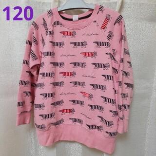 ユニクロ(UNIQLO)の120 ユニクロ リサラーソン マイキー トレーナー ピンク(Tシャツ/カットソー)