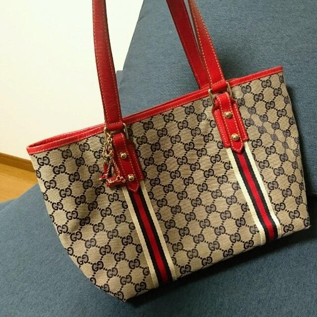 Gucci(グッチ)のGUCCI ハンドバッグ レッド ビンテージ レディースのバッグ(ハンドバッグ)の商品写真