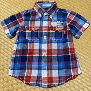 ダブルビー(DOUBLE.B)のミキハウス Double.B ボタンダウン 半袖シャツ サイズ100(Tシャツ/カットソー)