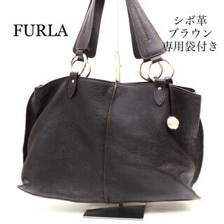 フルラ(Furla)の備品 FURLA フルラ シボ革 ショルダーバッグ A4収納 ブラウン(ショルダーバッグ)