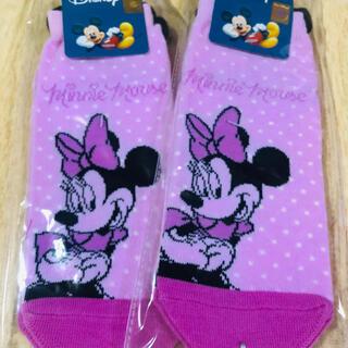 ディズニー(Disney)のディズニー 靴下 アースキーホルダー(ミニー) (ソックス)
