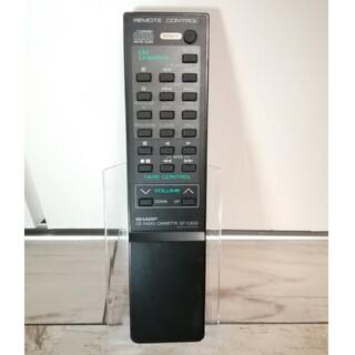 シャープ(SHARP)のSHARP CDラジカセリモコン RRMCG0284AFSA  QT-C300(その他)