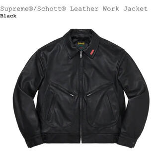Supreme - Supreme®/Schott® Leather Work Jacket L