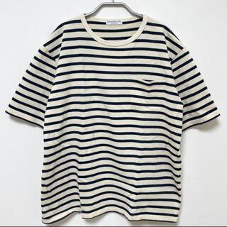 エディフィス(EDIFICE)のEDIFICE /エディフィス コットンボーダーTシャツ(Tシャツ/カットソー(半袖/袖なし))