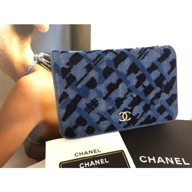 CHANEL(シャネル)のCHANEL꙳★*゜極美品 超レア 24番台 デニム チェーンウォレット レディースのバッグ(ショルダーバッグ)の商品写真