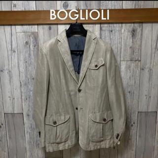 ボリオリ(BOGLIOLI)のBOGLIOLI ボリオリ リネンコットン サファリ ミリタリー(テーラードジャケット)