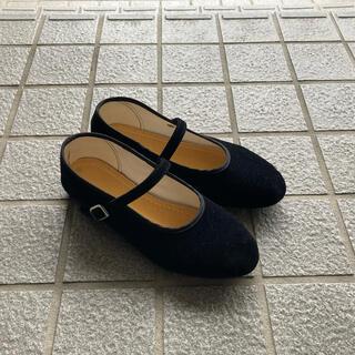 台湾 チャイナシューズ 黒 23.5cm(バレエシューズ)